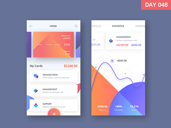 Bank online APP  design